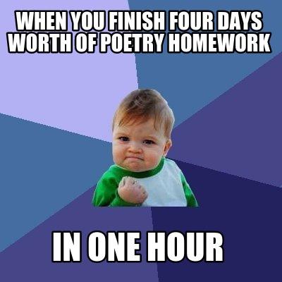 Finishing homework in an hour
