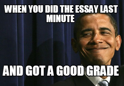 writing a paper last minute